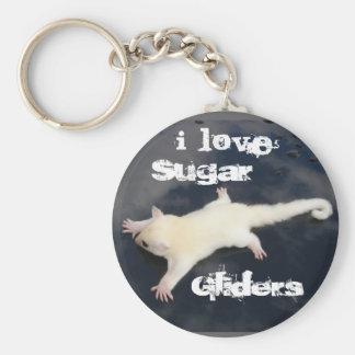 Amo los planeadores =Outbackgliders.com del azúcar Llaveros Personalizados