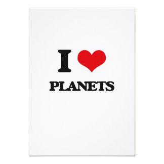 """Amo los planetas invitación 5"""" x 7"""""""