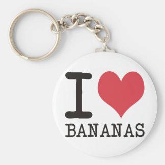 Amo los plátanos - manzanas - los productos y los  llavero redondo tipo pin