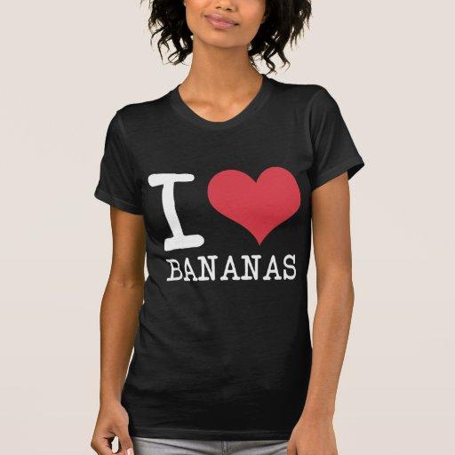 Amo los plátanos - manzanas - los productos y los camiseta