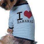 Amo los plátanos - manzanas - los productos y los  ropa de perro