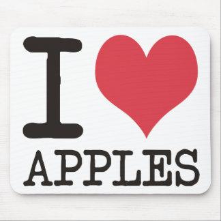 Amo los plátanos - manzanas - los productos y los  alfombrillas de ratones
