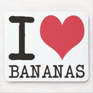 Amo los plátanos - manzanas - los productos y los  alfombrillas de raton
