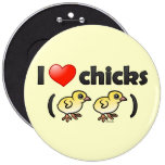 Amo los polluelos (los pájaros) pins