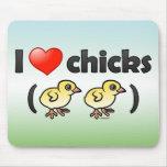 Amo los polluelos (los pájaros) alfombrilla de ratones