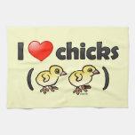 Amo los polluelos (los pájaros) toallas de mano