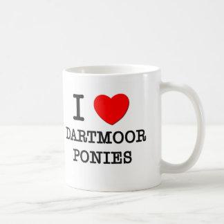 Amo los potros de Dartmoor (los caballos) Tazas