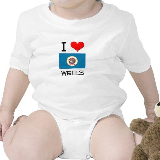Amo los pozos Minnesota Traje De Bebé