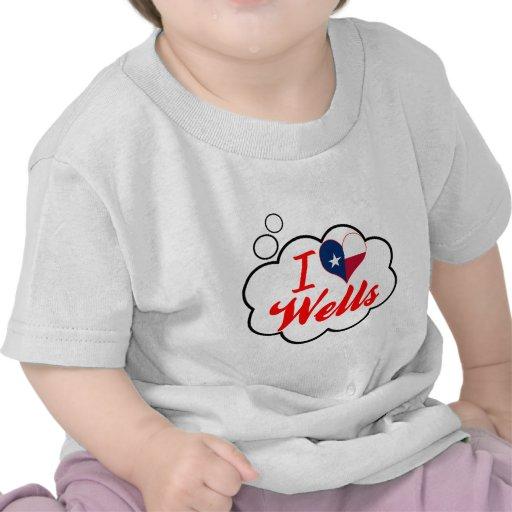 Amo los pozos, Tejas Camisetas