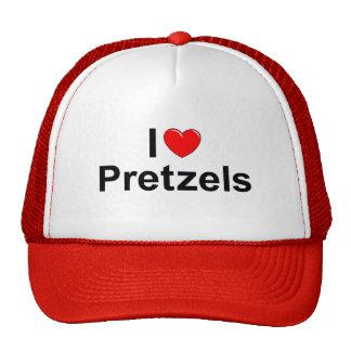 Amo los pretzeles (del corazón) gorro