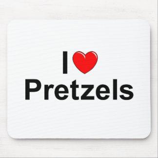 Amo los pretzeles (del corazón) tapete de ratones