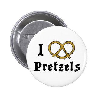 Amo los pretzeles pin redondo 5 cm