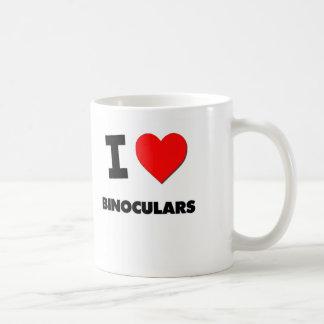 Amo los prismáticos tazas de café