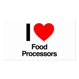 amo los procesadores de alimentos tarjeta de negocio