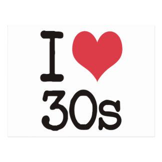 ¡Amo los productos 30s y los diseños! Tarjeta Postal
