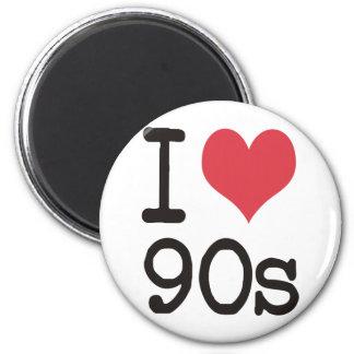 ¡Amo los productos 90s y los diseños! Imán Redondo 5 Cm