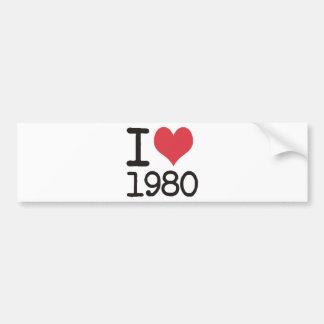 ¡Amo los productos an o 80 y los diseños! Pegatina Para Auto