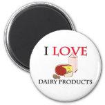 Amo los productos lácteos iman de frigorífico
