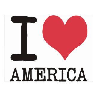 ¡AMO los productos y los diseños de AMÉRICA! Tarjetas Postales