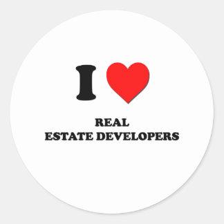 Amo los promotores inmobiliarios etiquetas redondas