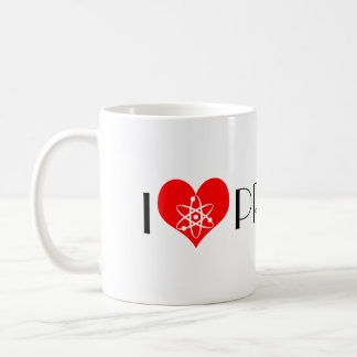 Amo los protones taza clásica