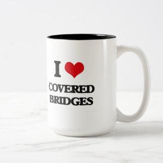 Amo los puentes cubiertos taza dos tonos