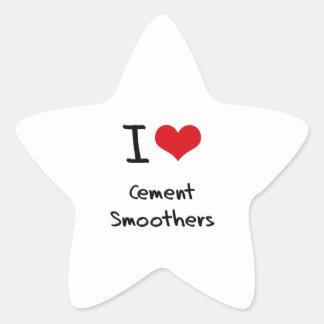 Amo los pulidores del cemento calcomania forma de estrella personalizadas