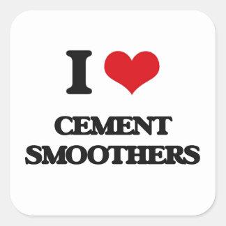 Amo los pulidores del cemento pegatina cuadrada
