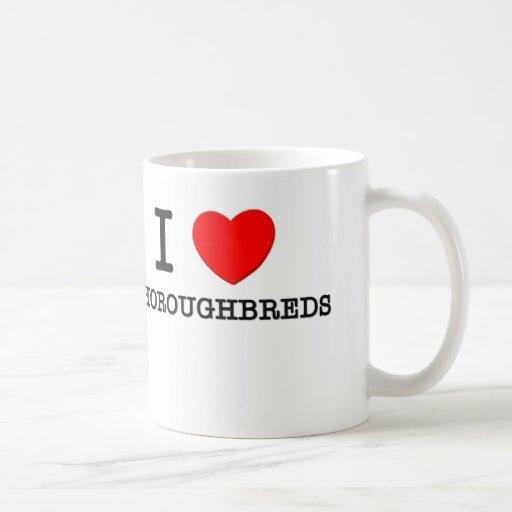 Amo los pura sangre (los caballos) tazas de café