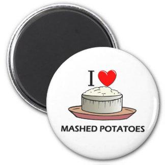Amo los purés de patata imán para frigorifico