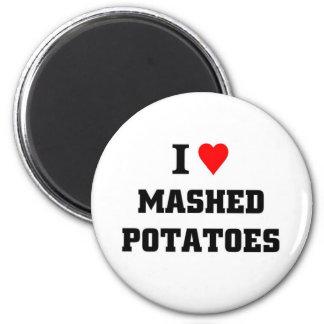 Amo los purés de patata imán de frigorífico