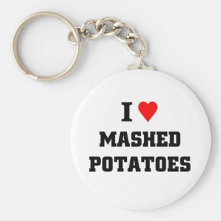 Amo los purés de patata llavero redondo tipo pin