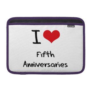 Amo los quintos aniversarios funda para macbook air