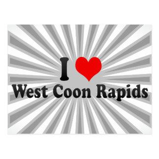 Amo los Rapids del oeste del Coon, Estados Unidos Postales