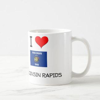 Amo los Rapids Wisconsin de Wisconsin Tazas
