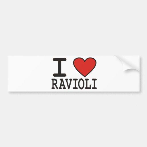 Amo los raviolis pegatina para auto