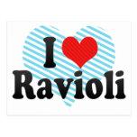 Amo los raviolis postal