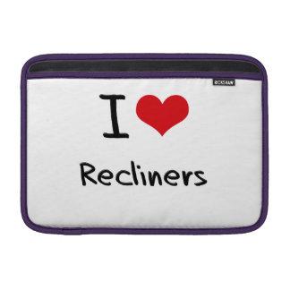 Amo los Recliners Funda MacBook