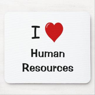 Amo los recursos humanos - cita de la hora alfombrilla de ratones