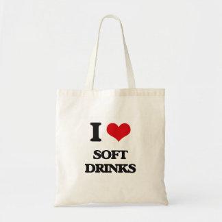 Amo los refrescos bolsas de mano