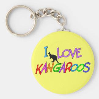 Amo los regalos de KangaROOS para todas las edades Llavero Redondo Tipo Pin