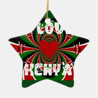 Amo los regalos de Kenia Hakuna Matata Adorno De Cerámica En Forma De Estrella