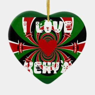 Amo los regalos de Kenia Hakuna Matata Adorno De Cerámica En Forma De Corazón
