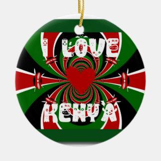 Amo los regalos de Kenia Hakuna Matata Adorno Redondo De Cerámica
