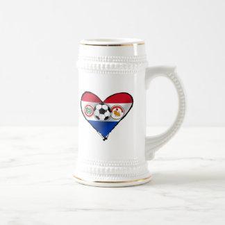 Amo los regalos del fútbol de Futbol Paraguayano Tazas De Café