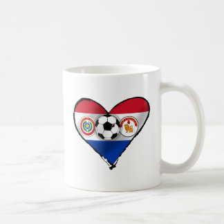 Amo los regalos del fútbol de Futbol Paraguayano Taza De Café