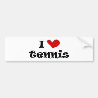 Amo los regalos del tenis y las camisetas con el c etiqueta de parachoque