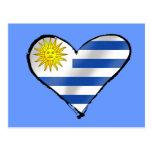 Amo los regalos uruguayos del corazón de Uruguay Tarjeta Postal