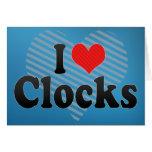 Amo los relojes tarjetón
