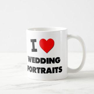 Amo los retratos de boda tazas de café